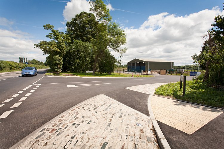 Access roads, car parks and landscaping