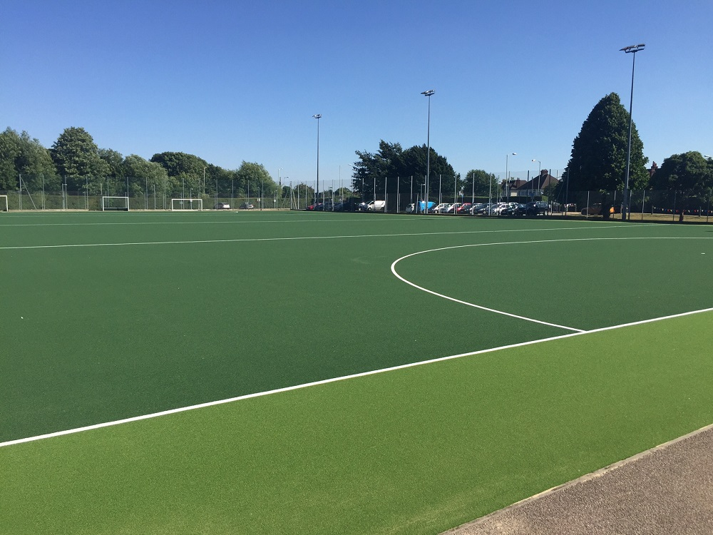 Recently Re-surfaced Synthetic Hockey Pitch
