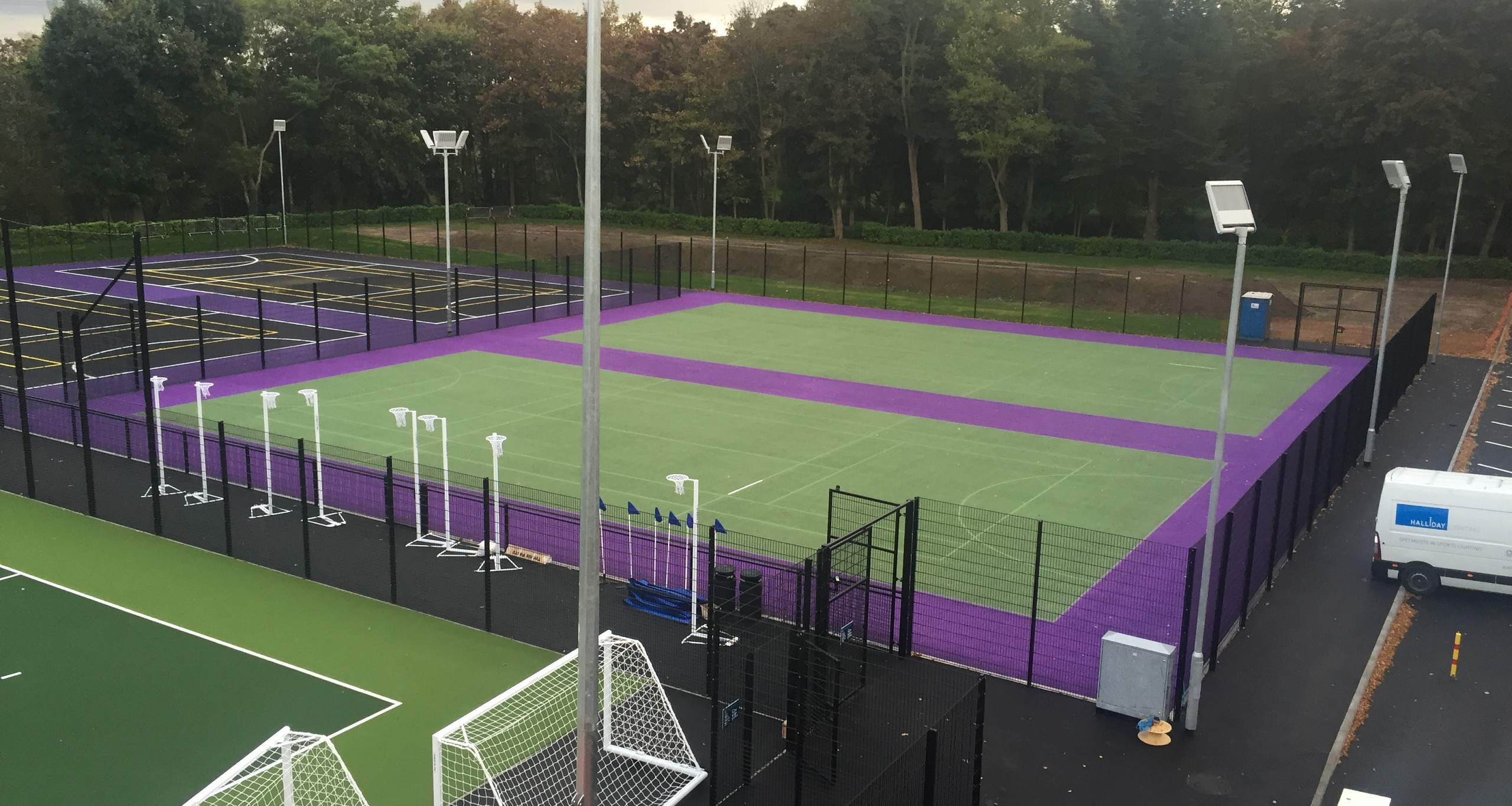 Hockey & tennis court installation.