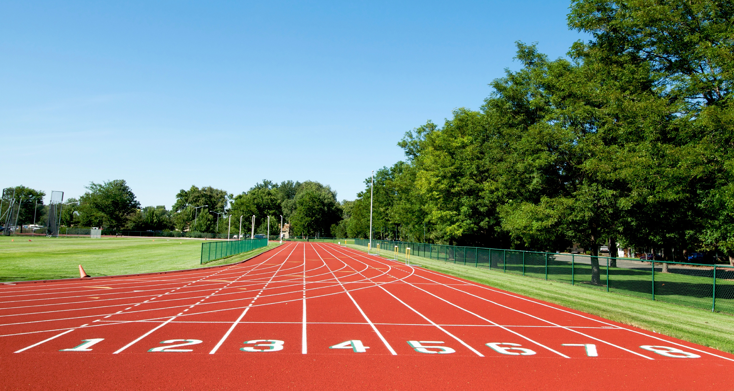 All weather Athletics Track at school