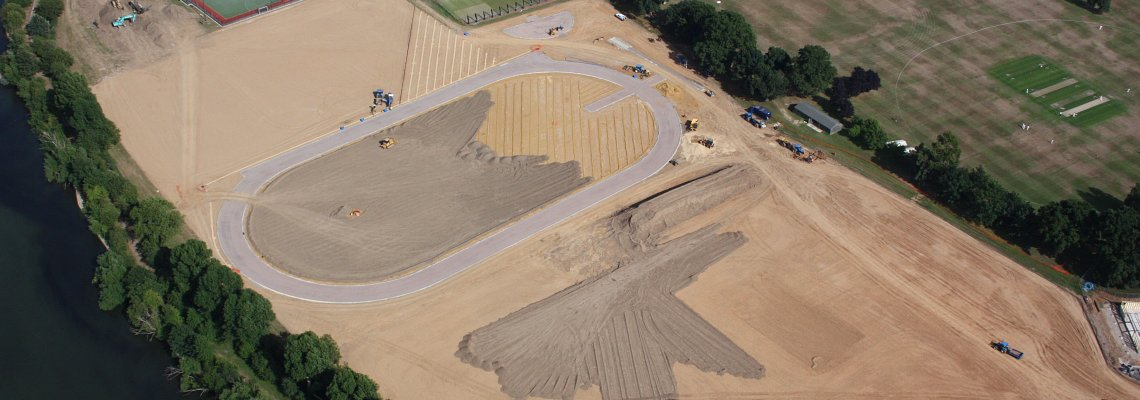 Extensive earthworks