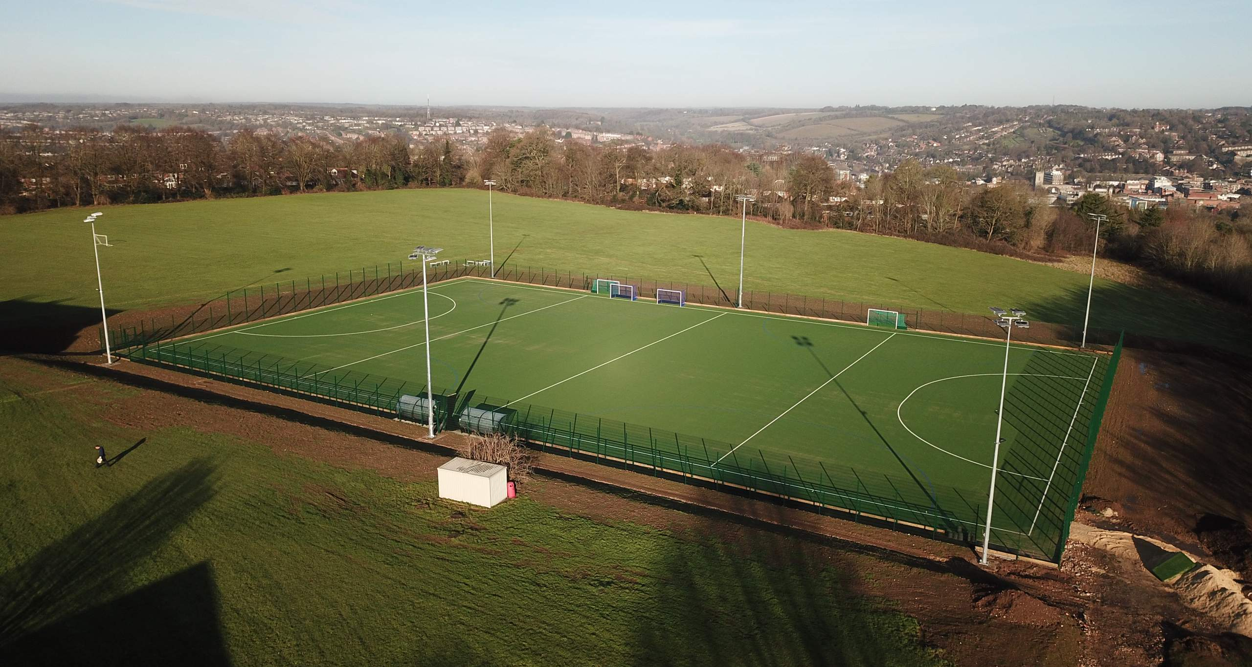 Construction of an Artificial Turf Pitch with fencing and floodlighting