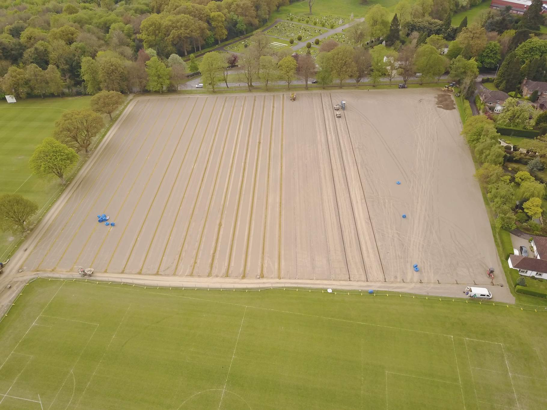 Sports Pitch Drainage Installation