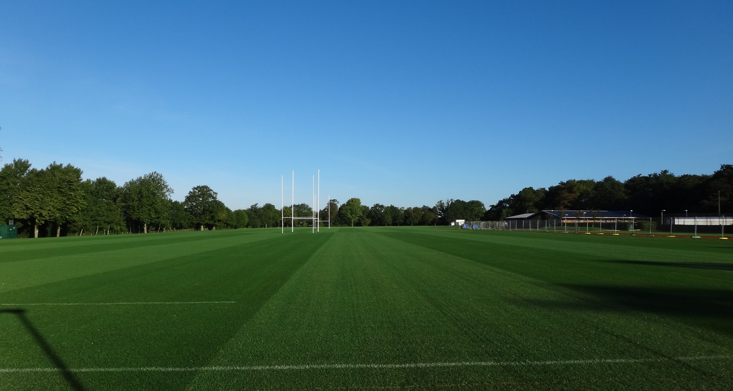 Natural Rugby Pitch Construction