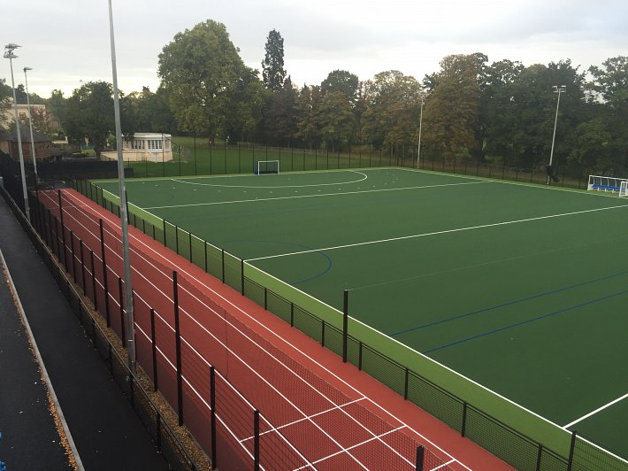Sprint track and Synthetic pitch